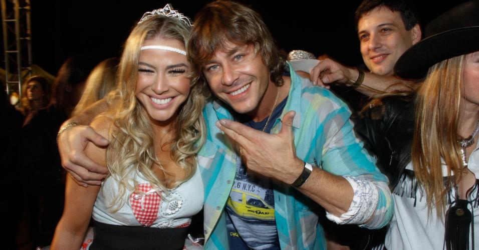 Theo Becker curte festa junina no Jockey Clube de São Paulo. A festa foi organizada pela Ong Florescer (22/6/12)