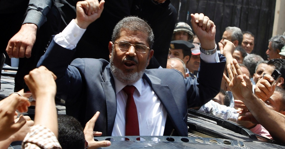 24.jun.2012 - O candidato da Irmandade Mu&#231;ulmana, Mohammed Mursi venceu as elei&#231;&#245;es presidenciais no Egito