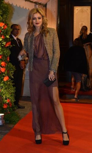 Sophie Charlotte mostrou o novo visual no casamento da atriz Luma Costa, no Rio (23/6/12)