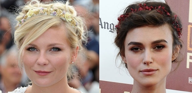 As atrizes Kirsten Dunst e Keira Knightley desfilam o acessório no tapete vermelho