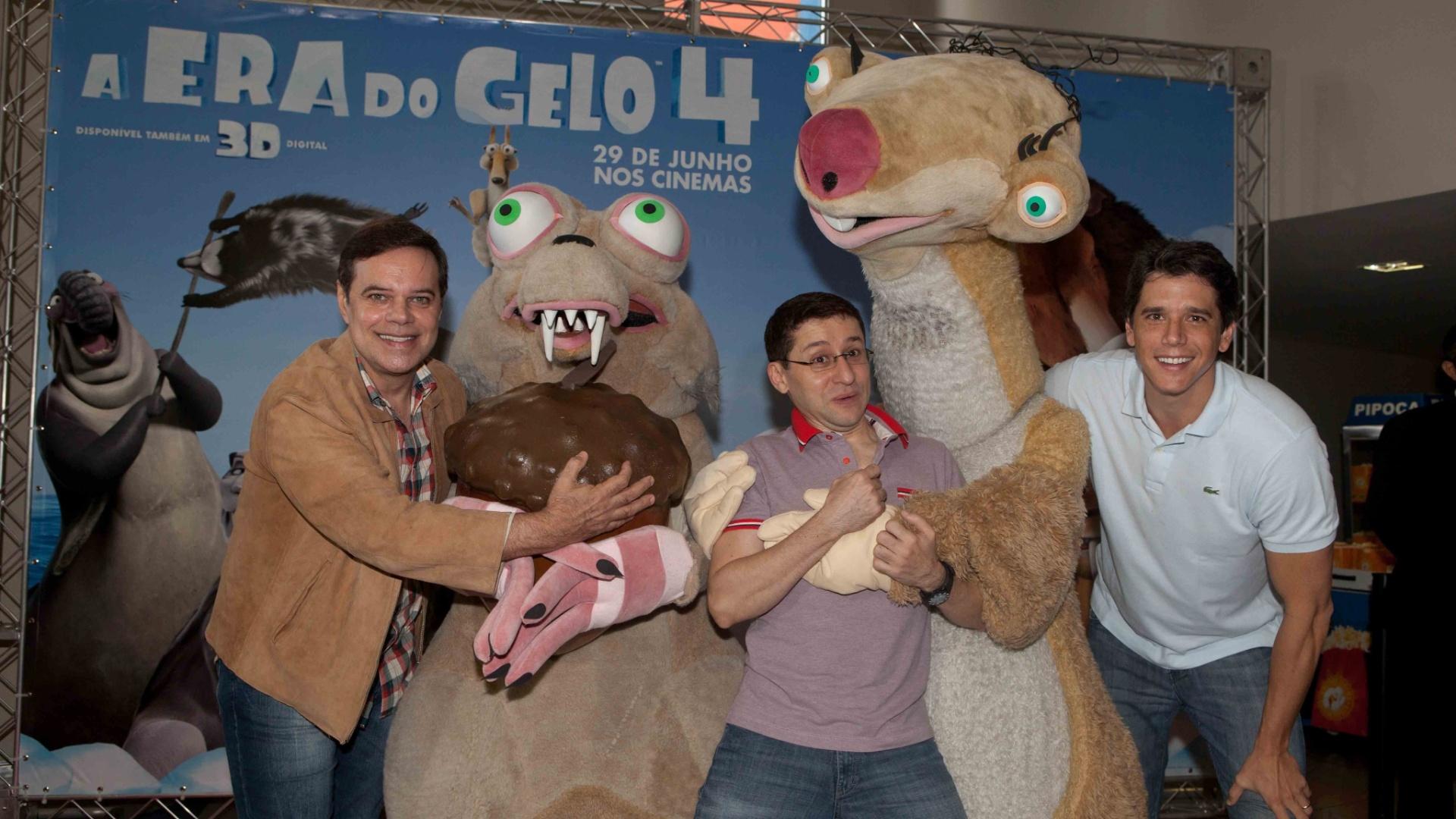 Os atores DiogoVilela, Márcio Garcia e Tadeu Mello prestigiaram no último domingo a pré-estreia do filme