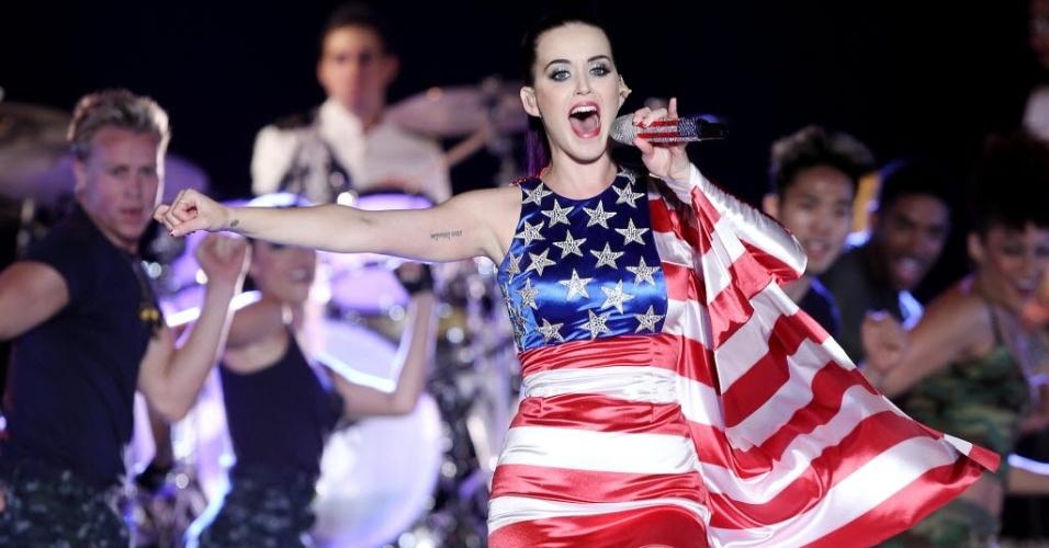 A cantora americana Katy Perry em cena do documentário