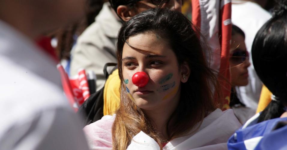 Estudantes protestam em Brasília por mais investimento em educação e em apoio a greve dos professores e servidores de universidades federais