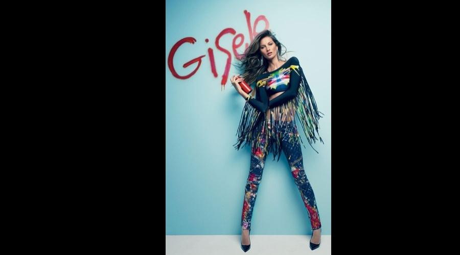 """Gisele Bündchen divulgou uma imagem do ensaio estrelado por ela para a edição de julho da revista """"Vogue"""" brasileira (26/6/12)"""