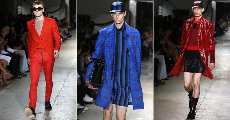 Looks de John Lawrence Sullivan para o Verão 2013 na semana de moda masculina de Paris (27/06/2012)