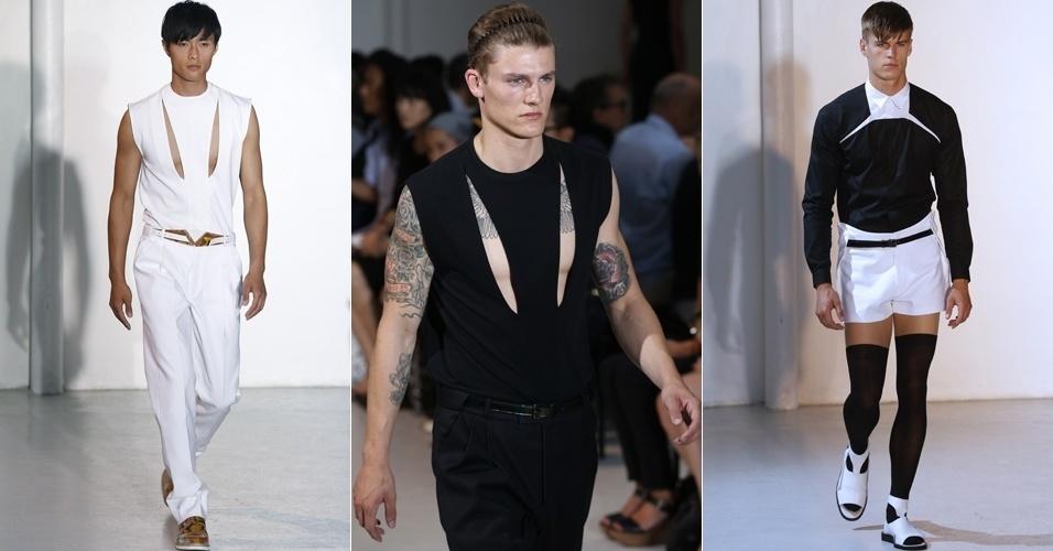 Looks de Mugler para o Verão 2013 na semana de moda masculina de Paris (27/06/2012)