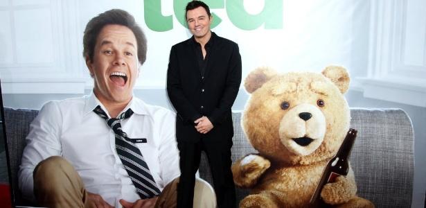 O autor, diretor e roteirista Seth MacFarlane em lançamento de Ted, em Los Angeles (21/6/12)