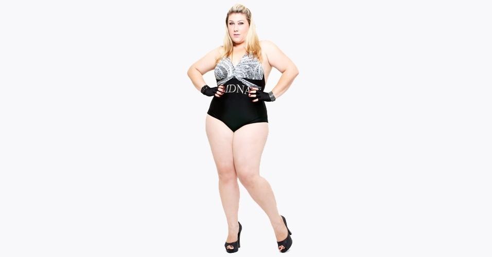 Samantha Rebello em ensaio plus size inspirado na cantora Madonna - 2