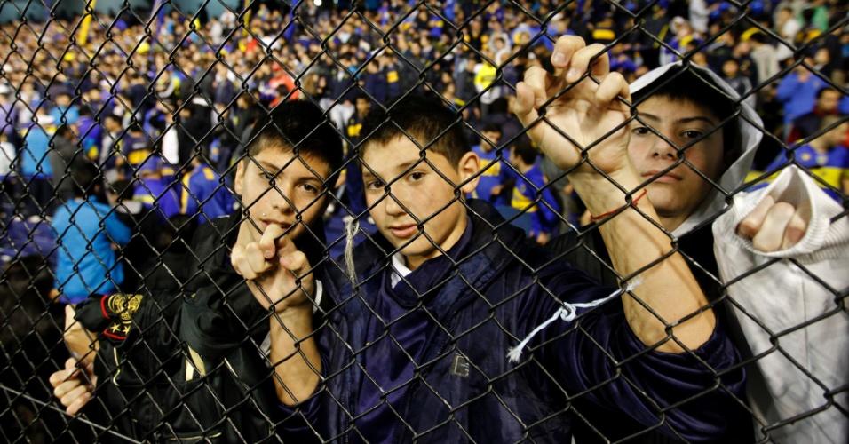 Torcedores do Boca Juniors lotam La Bombonera para acompanhar a final da Libertadores contra o Corinthians