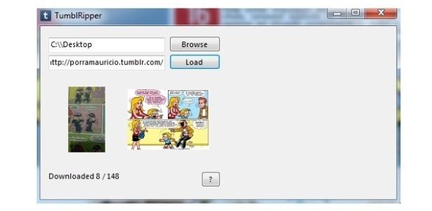 TumblRipper permite ao usuário baixar todas as fotos de um Tumblr