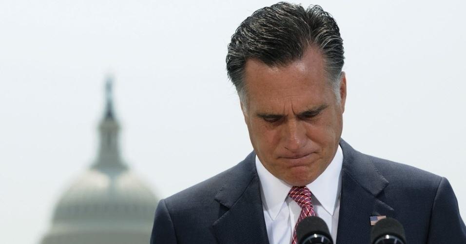 28.jun.2012- Mitt Romney, candidato republicano que concorrerá nas presidenciais americanas
