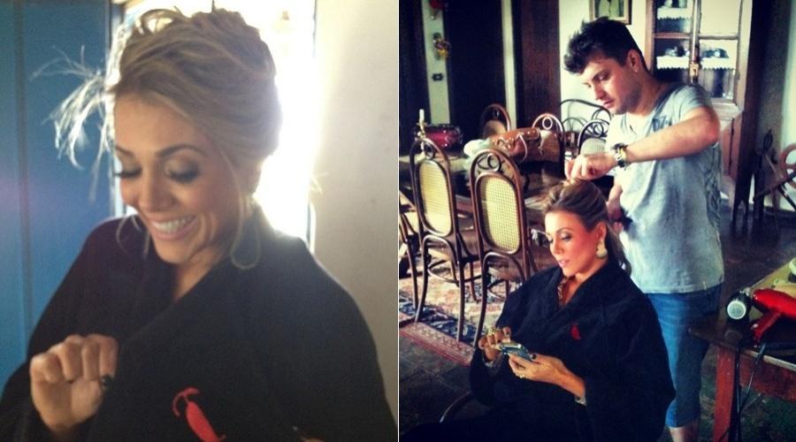"""A ex-BBB Fabiana divulgou imagens dos bastidores do seu ensaio para a revista """"Sexy"""" (28/6/12)"""