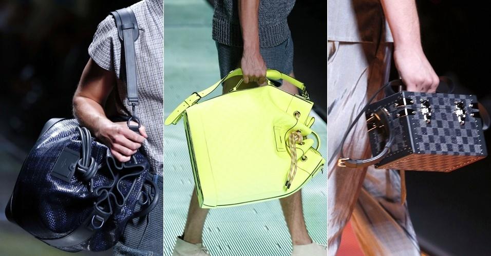 Bolsas da Louis Vuitton para o Verão 2013 na semana de moda masculina de Paris (28/06/2012)