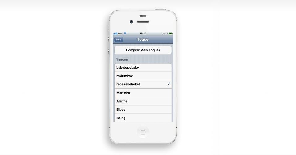 Crie um ringtone personalizado. Se você não quer usar os ringtones que vem com o iPhone, nem compra-los na loja da Apple, pode criar tons personalizados. Clique em MAIS e veja o passo a passo