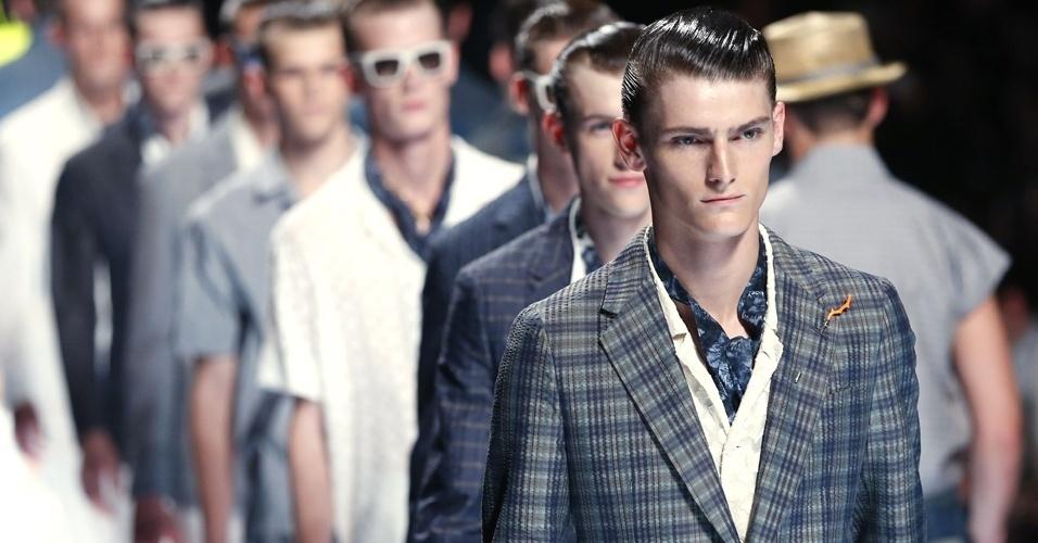 Fim do desfile da Louis Vuitton para o Verão 2013 na semana de moda masculina de Paris (28/06/2012)