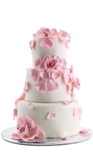 Imagem para bolo de casamento com toque colorido