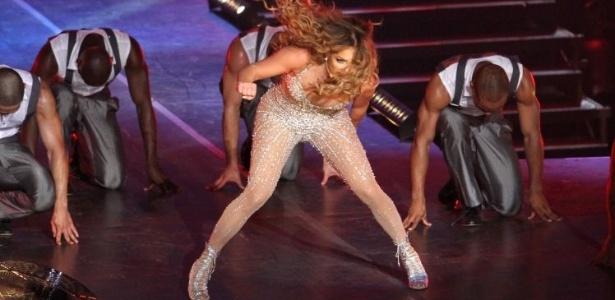 Jennifer Lopez durante apresentação no Pop Music Festival 2012, no Rio de Janeiro