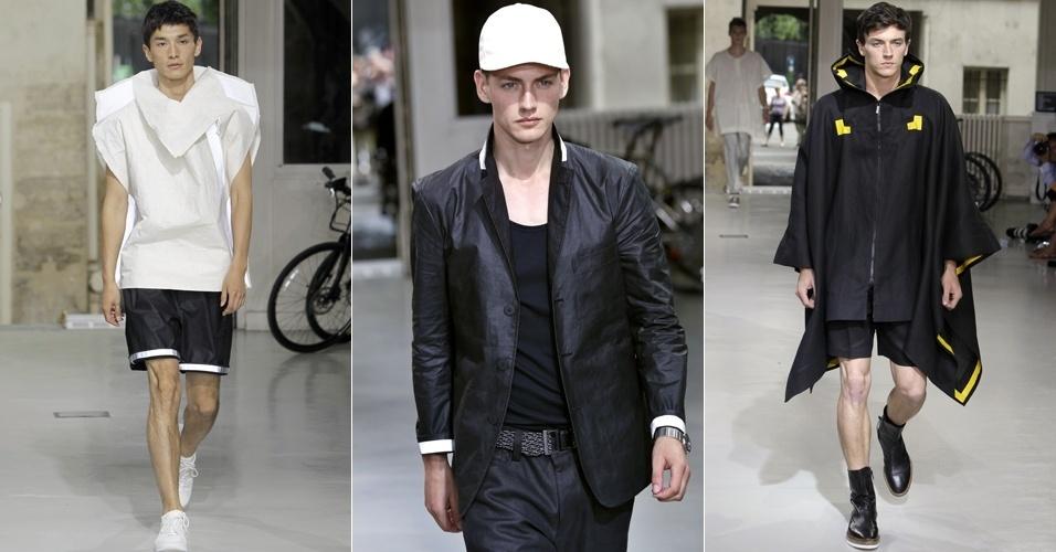 Looks de Issey Miyake Men para o Verão 2013 na semana de moda masculina de Paris (28/06/2012)