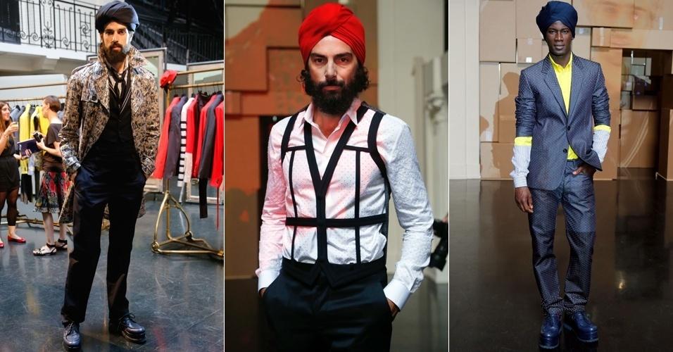 Looks de Jean Paul Gaultier para o Verão 2013 na semana de moda masculina de Paris (28/06/2012)