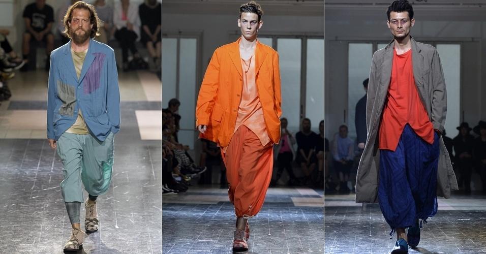 Looks de Yohji Yamamoto para o Verão 2013 na semana de moda masculina de Paris (28/06/2012)