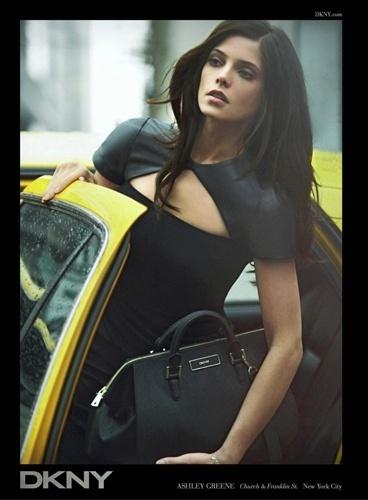 Ashley Greene na campanha da DKNY para o Inverno 2012