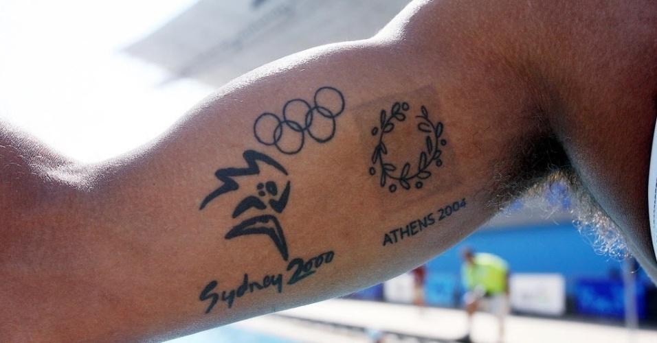 Detalhe das tatuagens