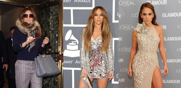 Estilo sexy de Jennifer Lopez tem mix de texturas e muito brilho