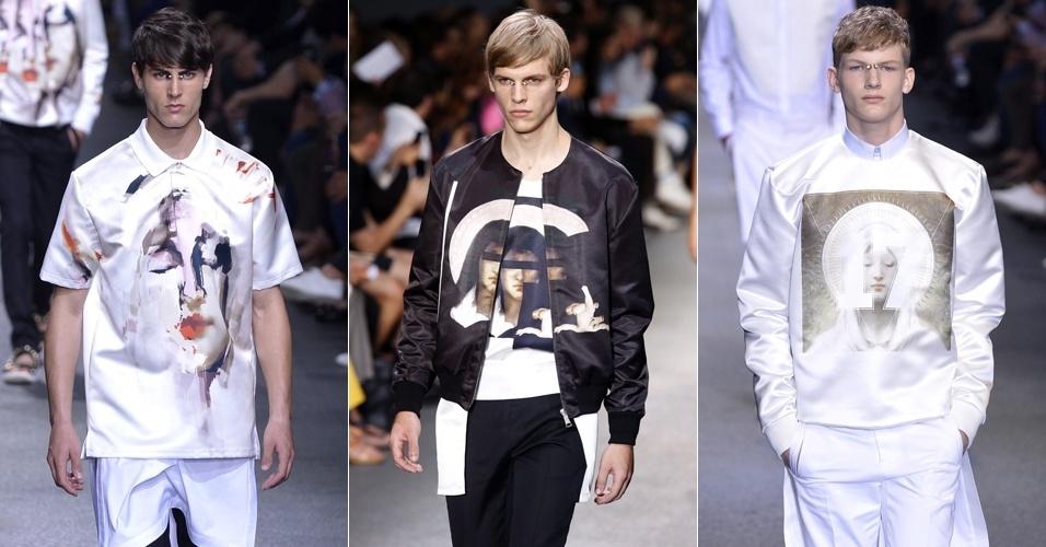 Looks de Givenchy para o Verão 2013 na semana de moda masculina de Paris (29/06/2012)