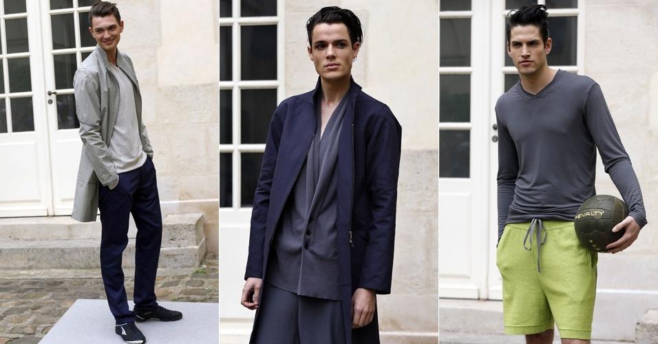 Looks de Gustavo Lins para o Verão 2013 na semana de moda masculina de Paris (29/06/2012)