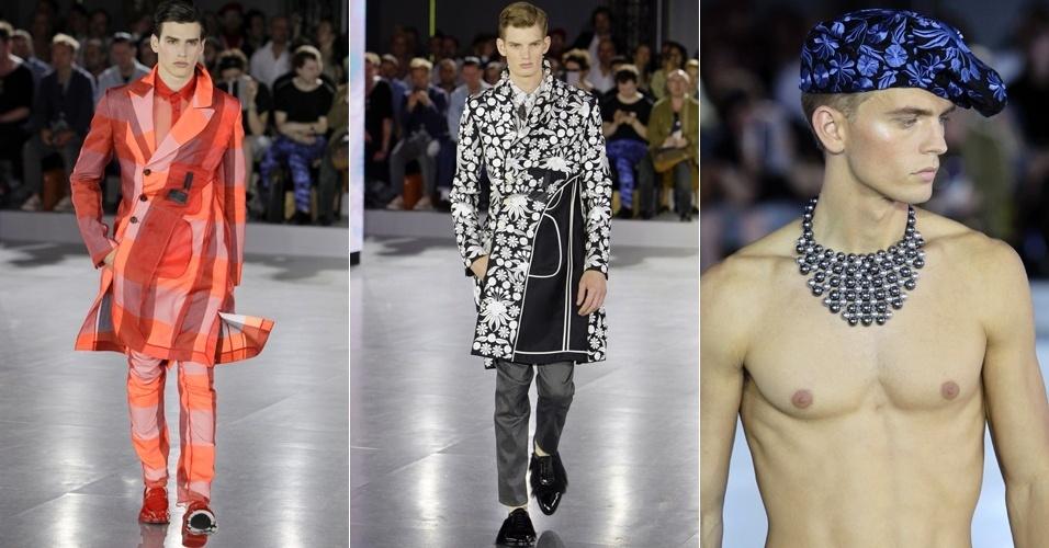 Looks de John Galliano para o Verão 2013 na semana de moda masculina de Paris (29/06/2012)