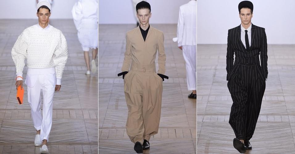 Looks de Juun J. para o Verão 2013 na semana de moda masculina de Paris (29/06/2012)