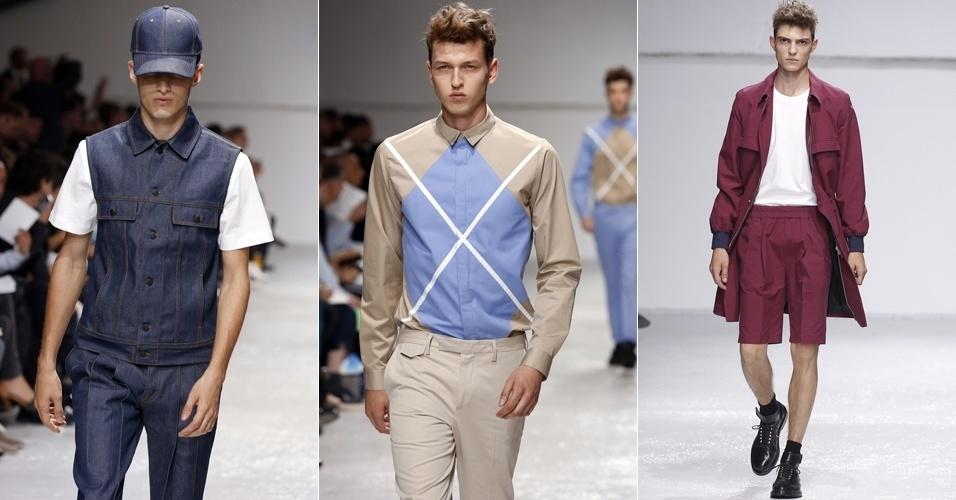 Looks de Kris Van Assche para o Verão 2013 na semana de moda masculina de Paris (29/06/2012)