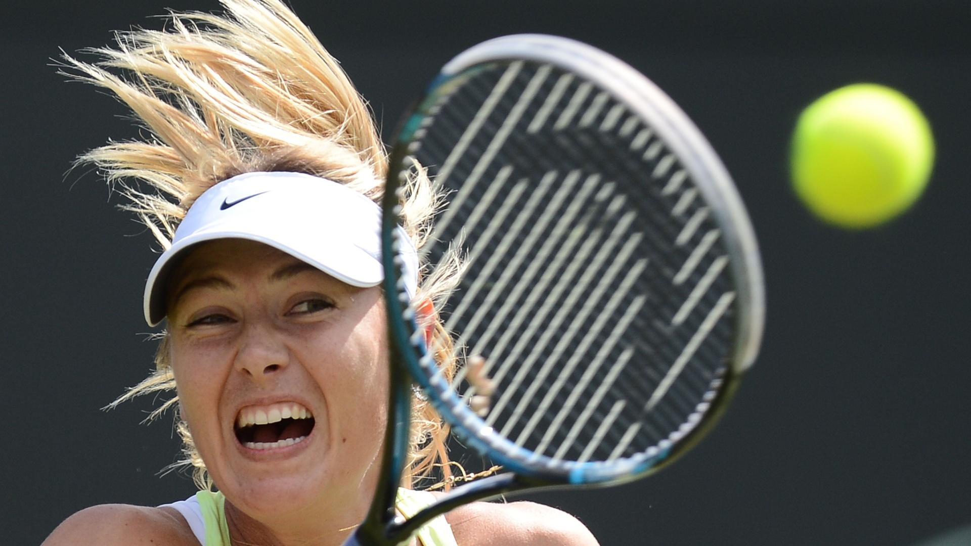 Maria Sharapova voltou à quadra nesta sexta-feira para atuar pela terceira rodada do Torneio de Wimbledon