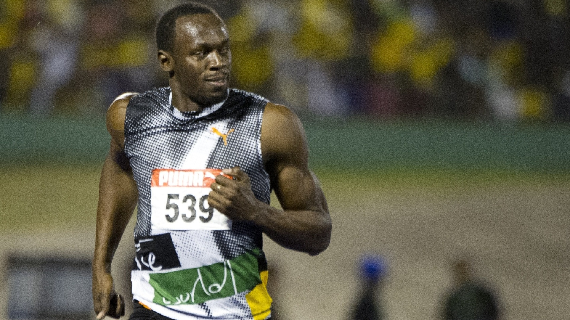 Usain Bolt durante a seletiva olmpica jamaicana