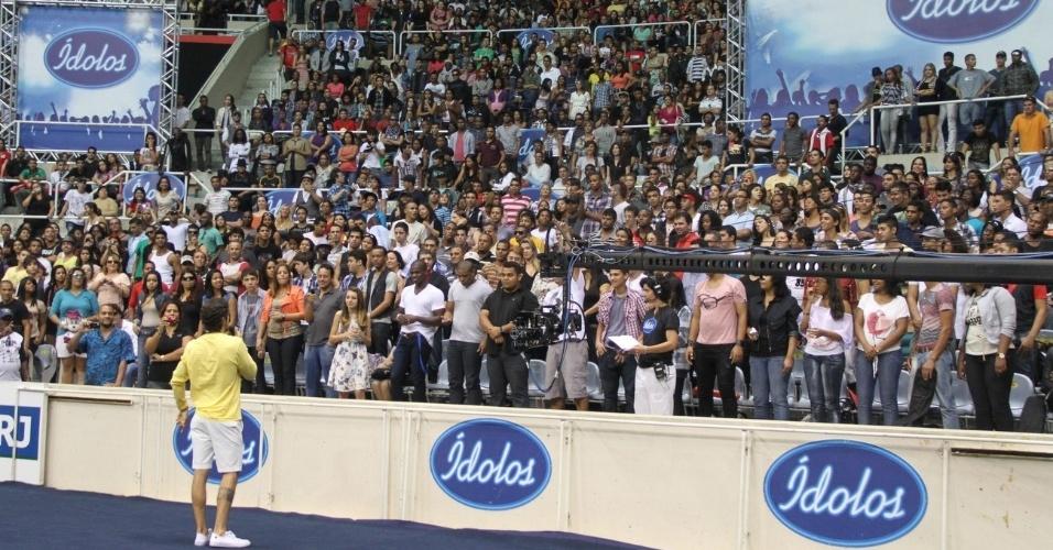 Marcos Mion faz audição do Ídolos 2012 no Rio de Janeiro