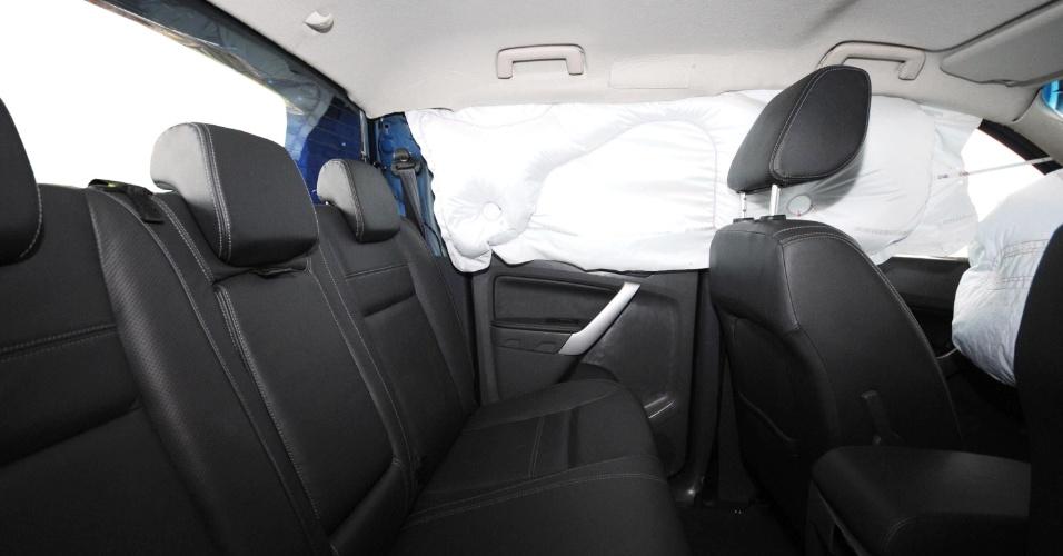 Aqui, exemplo da proteção dada pelos airbags de cortina, disponíveis na Limited