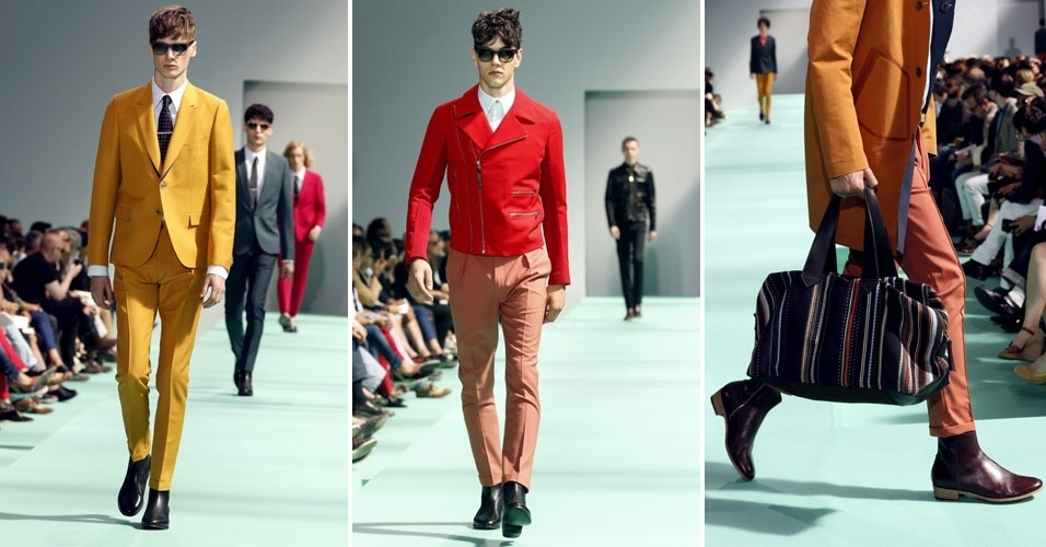 Cores vibrantes vestem os homens do estilista Paul Smith (1/7/2012)