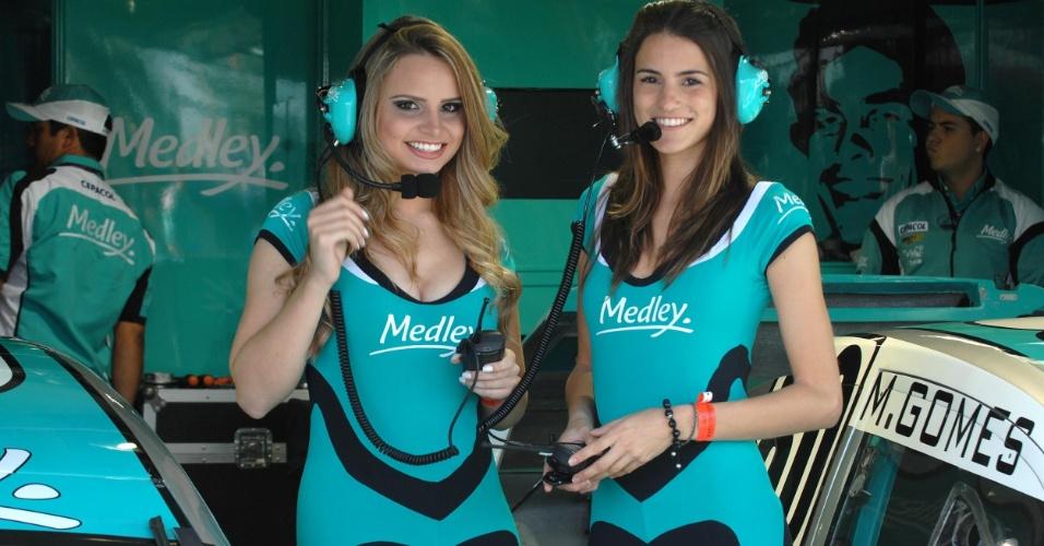 Grid Girls mostram toda sua beleza nos boxes da etapa de Londrina da Stock Car (01/07/2012)