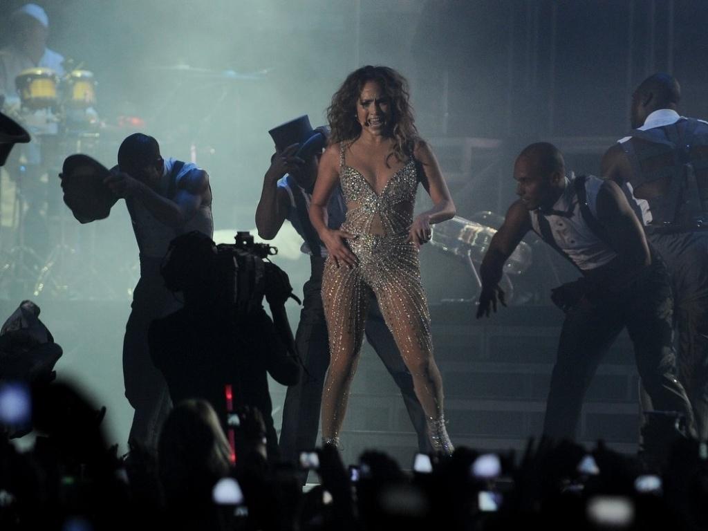 J-Lo se apresenta no Arte Music Festival na noite de sábado (30/6/2012), em Fortaleza