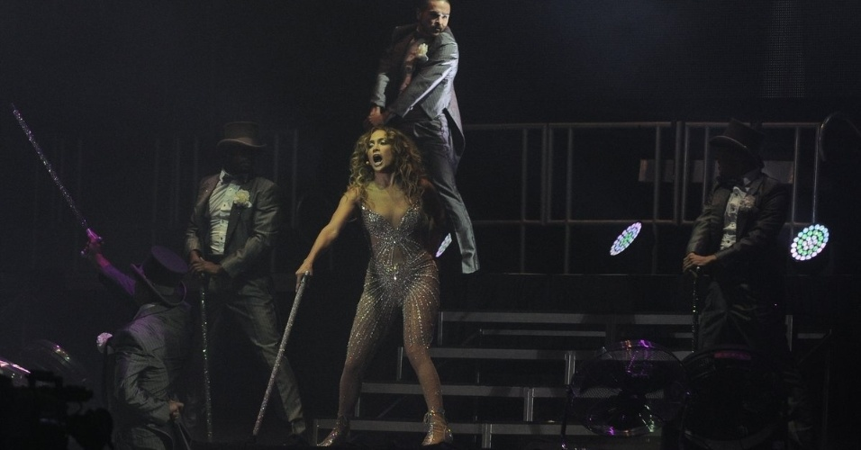 Jennifer Lopez se apresenta em Fortaleza no Arte Music Festival na noite de sbado. O festival tambm contou com show da cantora Ivete Sangalo (30/6/2012)