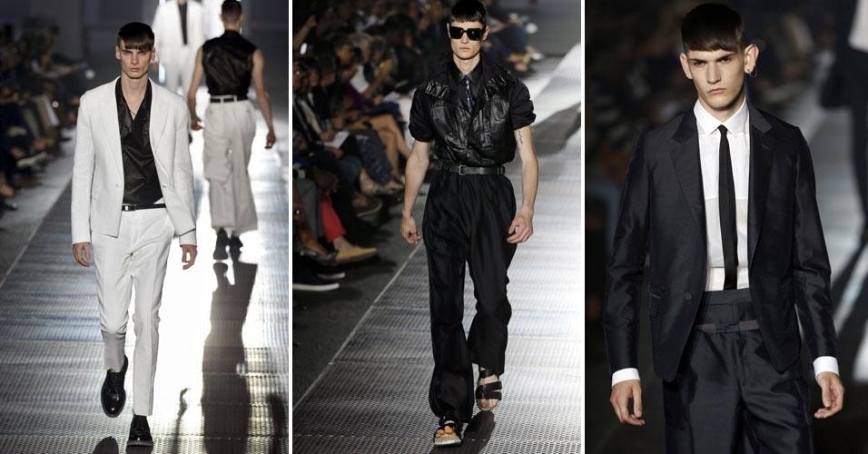 Linvin levou para a passarela de Paris criações em preto e branco para o verão 2013 da grife (1/7/2012)