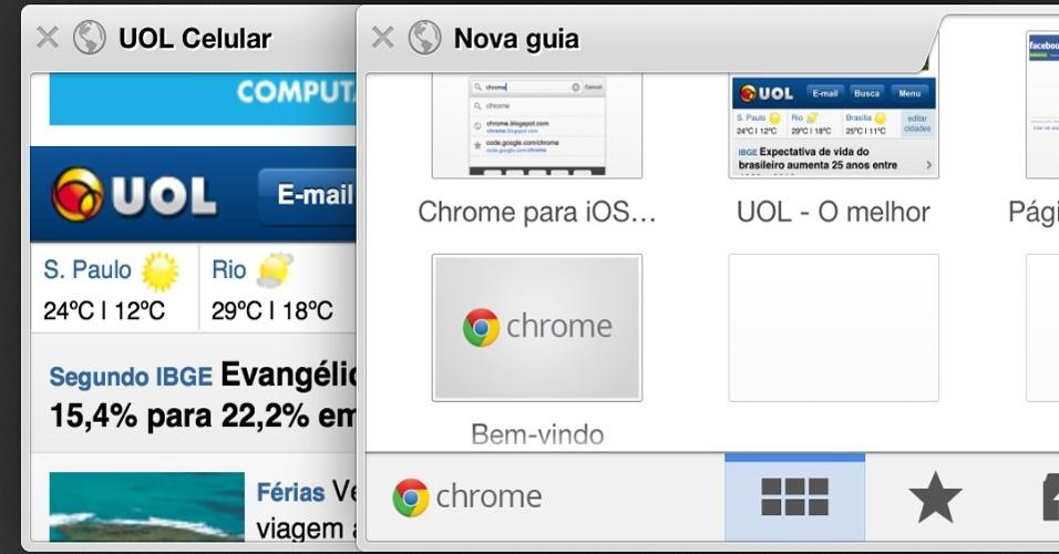 Chrome para iOS - Demorou, mas finalmente o iOS (sistema operacional da Apple para iPhone, iPad e iPod) ganhou uma versão do navegador Chrome, do Google. O aplicativo gratuito é uma boa alternativa ao browser padrão, com recursos muito interessantes, como a busca ativada por voz, já adaptada à língua portuguesa