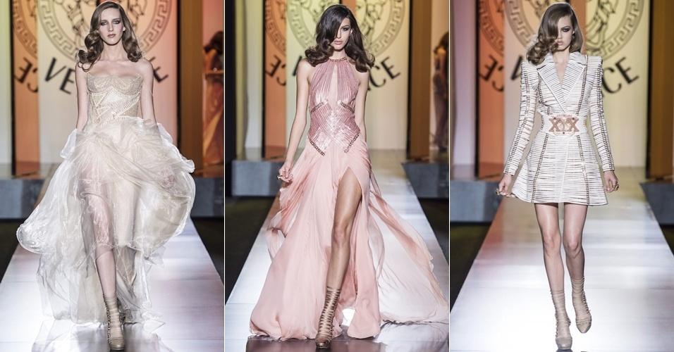 Looks da Versace para o Inverno 2012 na semana de alta-costura de Paris (01/07/2012)