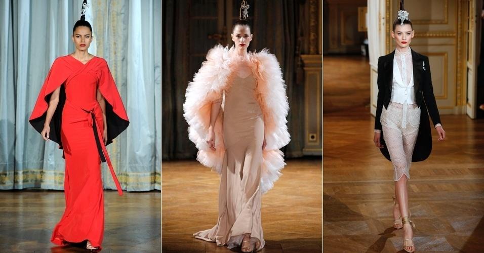 Looks de Alexis Mabile para o Inverno 2012 na semana de alta-costura de Paris (02/07/2012)