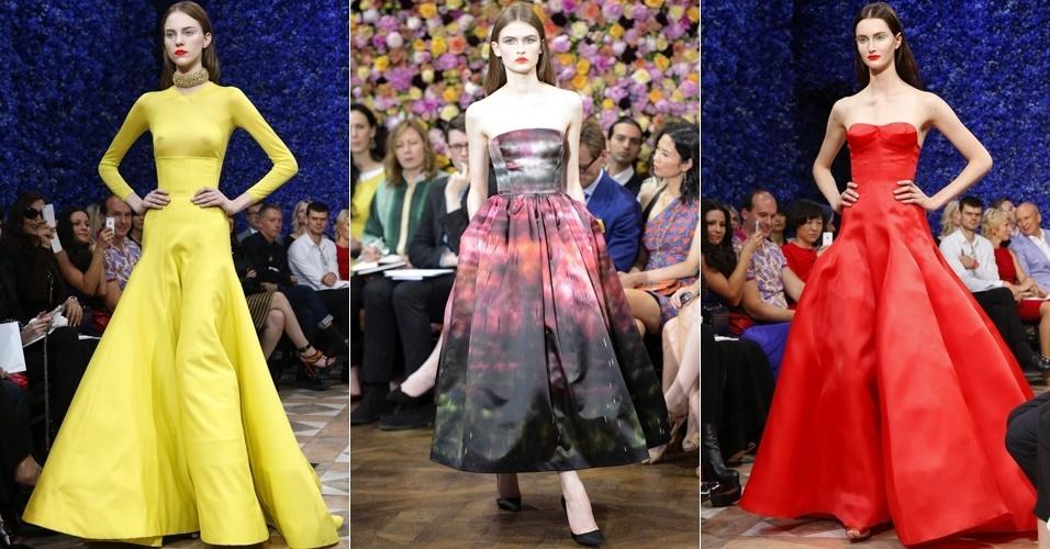 Looks de Christian Dior para o Inverno 2012 na semana de alta-costura de Paris (02/07/2012)