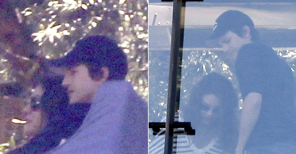 Mila Kunis e Ashton Kutcher almo&#231;am juntos em restaurante em West Hollywood, na Calif&#243;rnia (30/6/12)