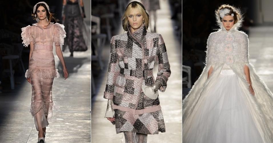 Looks da Chanel para o Inverno 2012 na semana de alta-costura de Paris (02/07/2012)