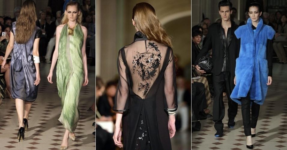 Looks de Gustavo Lins para o Inverno 2012 na semana de alta-costura de Paris (03/07/2012)