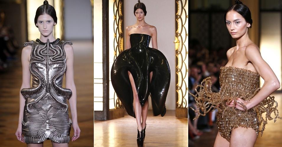 Looks de Iris Van Herpen para o Inverno 2012 na semana de alta-costura de Paris (02/07/2012)