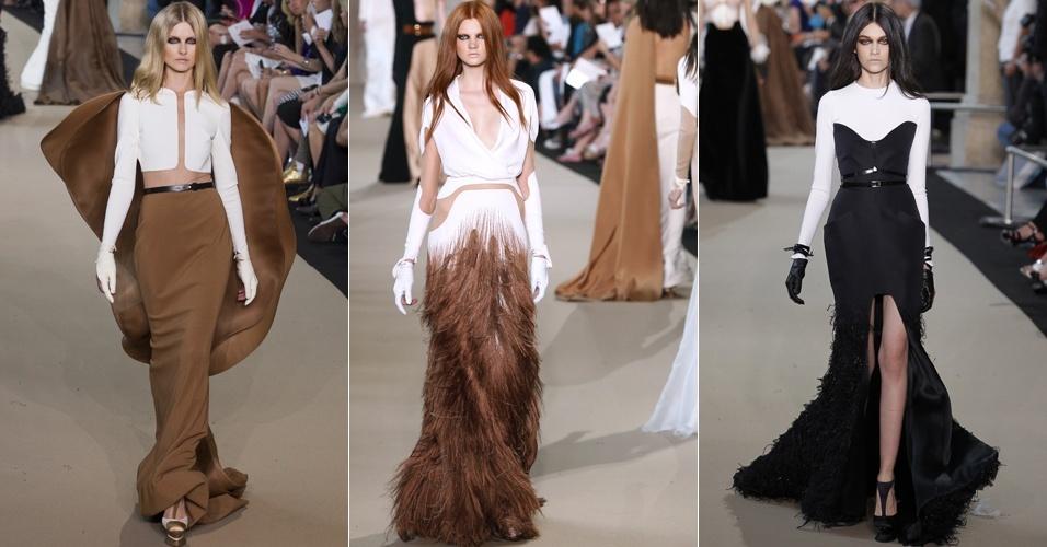 Looks de Stéphane Roland para o Inverno 2012 na semana de alta-costura de Paris (03/07/2012)